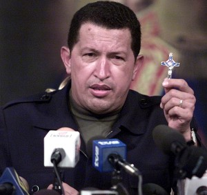 Hugo Chavez, shortly after the 2002 coup against him was defeated.