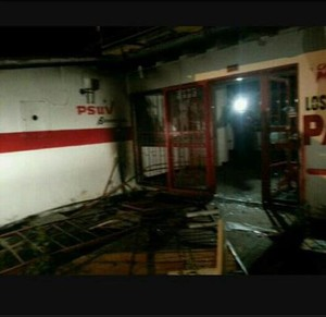 PSUV offices burnt down by Opposition thugs