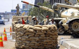 Egyptian military barricade on July 1st, 2013.