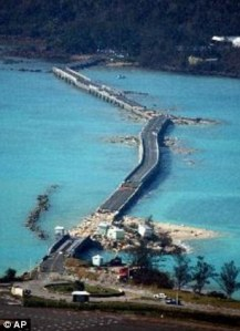 An AP file aerial photo of the Causeway after Fabian.