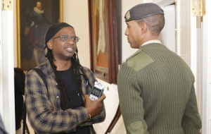 Ayo Johnson being barred from a press conference earlier this year.  Courtesy of Bernews