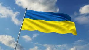 The blue & yellow flag of post-Soviet Ukraine.