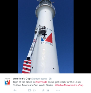 From the America's Cup Twitter account.