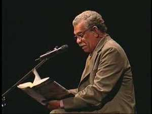 Derek Walcott, 1992 Nobel prize winner for literature.